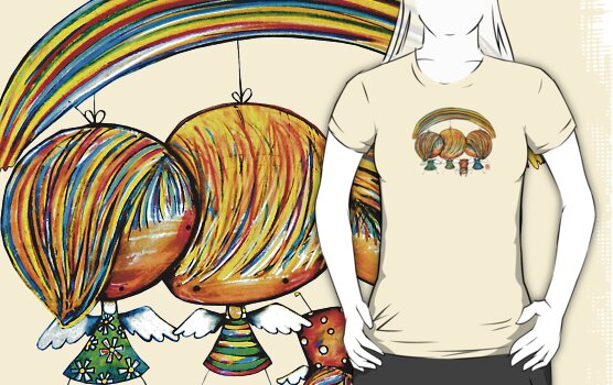 A Rainbow of Angels TShirt by Karin  Taylor