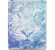 Abstract Watercolor Tiger Portrait / Face iPad Case/Skin