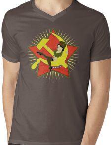 CCCP Pinup Mens V-Neck T-Shirt