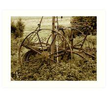 Old farming equipment Art Print