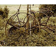 Old farming equipment Photographic Print