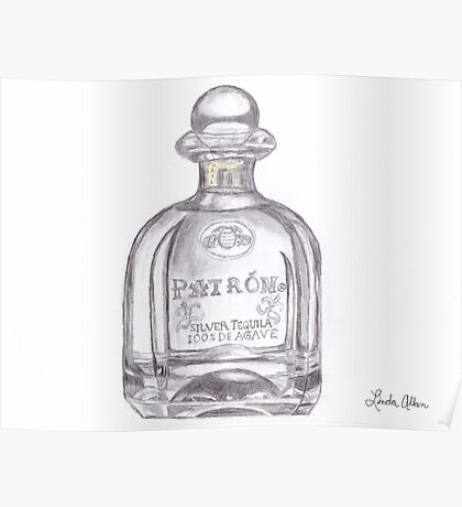 Patron Tequila Bottle T-Shirt Poster
