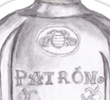 Patron Tequila Bottle Sticker