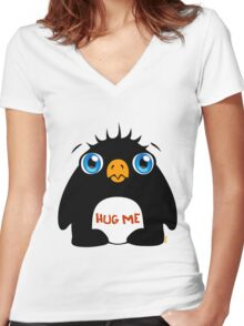 Hug Me Women's Fitted V-Neck T-Shirt
