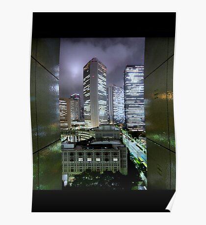 Shades of Bladerunner: Shinjuku, Tokyo Poster