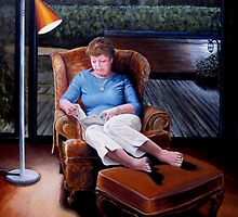 Diana Reading by Ken Tregoning