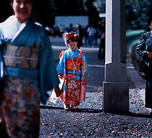 Three Generations; Meiji Jingu Shrine, Tokyo by Alfie Goodrich