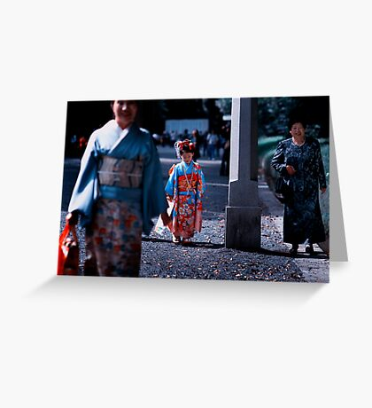 Three Generations; Meiji Jingu Shrine, Tokyo Greeting Card