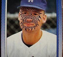 335 - Jeff Hamilton by Foob's Baseball Cards
