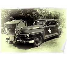 Plymouth Staff Car Poster