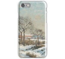 Camille Pissarro - Snowy Landscape at South Norwood iPhone Case/Skin