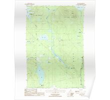 Maine USGS Historical Map Hay Lake 105205 1986 24000 Poster