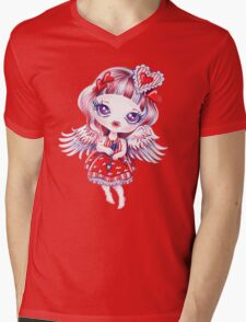 Valentine Girl Mens V-Neck T-Shirt