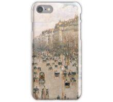 Camille Pissarro (Danish-French, 1830-1903), Boulevar Montmartre, 1897 iPhone Case/Skin