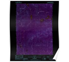 Maine USGS Historical Map Hay Mountain 105206 1988 24000 Inversion Poster