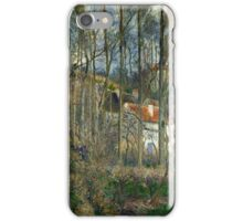 Camille Pissarro (Danish-French, 1830-1903), The forest at the Hermitage , 1877 iPhone Case/Skin