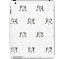 Ram's Head on Whimsical Pattern iPad Case/Skin