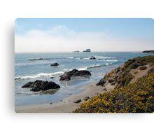 Fog Rolling Coastal Canvas Print