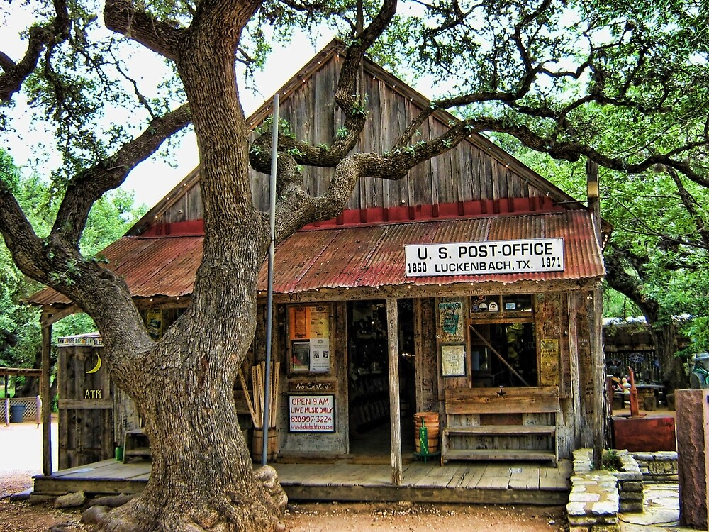 Luckenbach Texas Post Office(AIN'T NOBODY FEELIN NO PAIN) by ✿✿ Bonita ✿✿ ђєℓℓσ