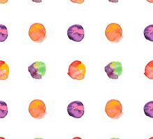 Abstract vector watercolor textured hand painted background by OlgaBerlet