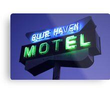 Blue Haven Motel Sign Metal Print