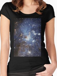 Blue Galaxy Women's Fitted Scoop T-Shirt