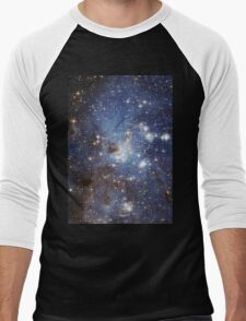 Blue Galaxy Men's Baseball ¾ T-Shirt