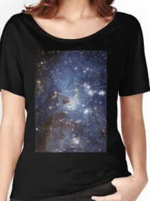 Blue Galaxy Women's Relaxed Fit T-Shirt