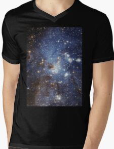 Blue Galaxy Mens V-Neck T-Shirt
