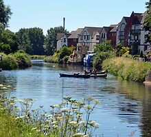 A Fine Day On The River at Exeter Devon.UK by lynn carter