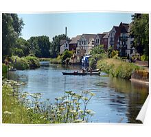 A Fine Day On The River at Exeter Devon.UK Poster