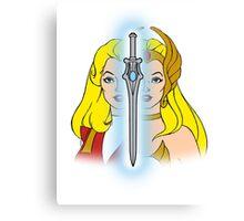 She-Ra Princess of Power - Adora/She-Ra/Sword - Color Canvas Print