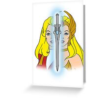 She-Ra Princess of Power - Adora/She-Ra/Sword - Color Greeting Card