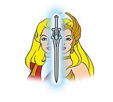 She-Ra Princess of Power - Adora/She-Ra/Sword - Color Photographic Print