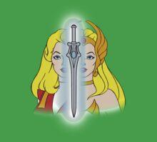 She-Ra Princess of Power - Adora/She-Ra/Sword - Color One Piece - Short Sleeve