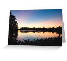 Night Falls in Baton Rouge Greeting Card