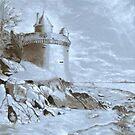 Underpainting Mont. St. Michel by ienemien