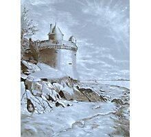 Underpainting Mont. St. Michel Photographic Print