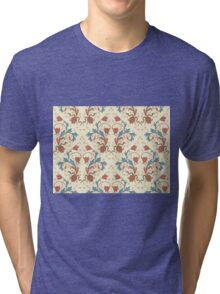 Elegance Seamless pattern with flowers ornament Tri-blend T-Shirt