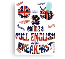 Happy 2 bee eating a full english Breakfast Canvas Print