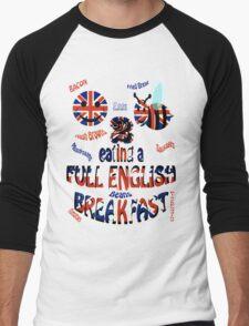 Happy 2 bee eating a full english Breakfast Men's Baseball ¾ T-Shirt