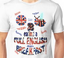 Happy 2 bee eating a full english Breakfast Unisex T-Shirt