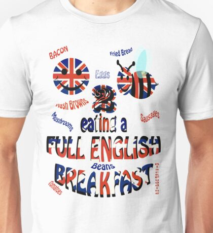 Happy 2 bee eating a full english Breakfast Unisex T-Shirt