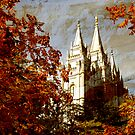 Salt Lake Temple - Autumn Season by Ryan Houston