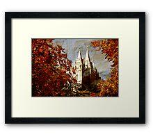Salt Lake Temple - Autumn Season Framed Print