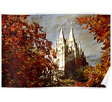 Salt Lake Temple - Autumn Season Poster