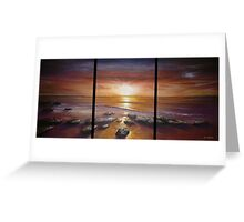 Purple Skyline Greeting Card