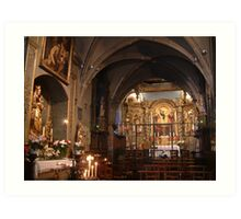 Church interior Old Town Limoges Art Print
