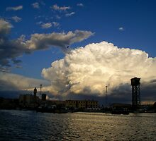 Barcelona's evening clouds 002 by millotaurus
