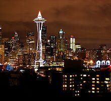 THE BEAUTIFUL SEATTLE SKYLIGHT AT NIGHT by MsLiz